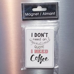 Other - 2/$12 coffee ceramic magnet NWT